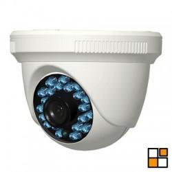 Mini-domo interior híbrido HDCVI/CVBS HD 720p, óptica 3.6mm, IR 20 m.