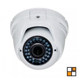 Mini-domo exterior híbrido HDCVI/CVBS HD 720p, óptica 2,8-12mm, IR 40 m.